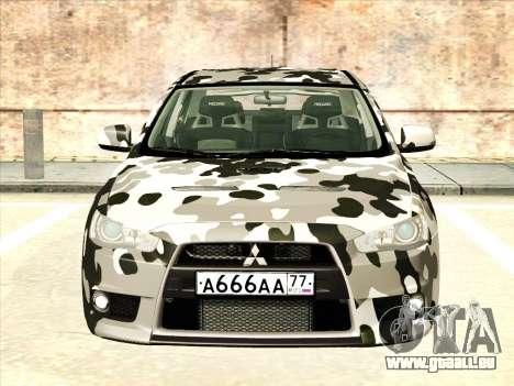 Mitsubishi Lancer Evolution X pour GTA San Andreas roue
