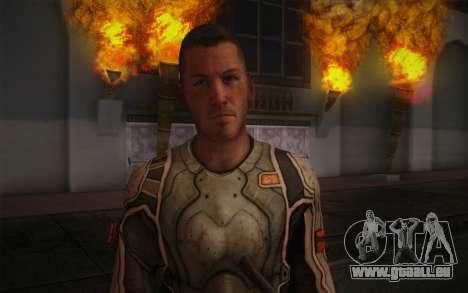Le lieutenant Nicolas Raine из Rage pour GTA San Andreas troisième écran