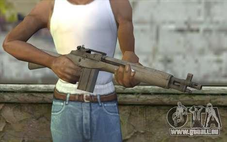 M14 из FarCry pour GTA San Andreas troisième écran