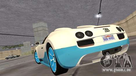 Bugatti Veyron Grand Sport Vitesse für GTA Vice City rechten Ansicht