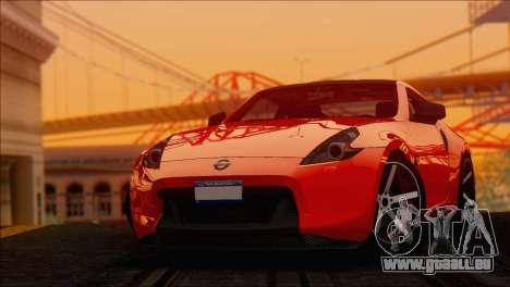 Nissan 370Z Vossen für GTA San Andreas zurück linke Ansicht