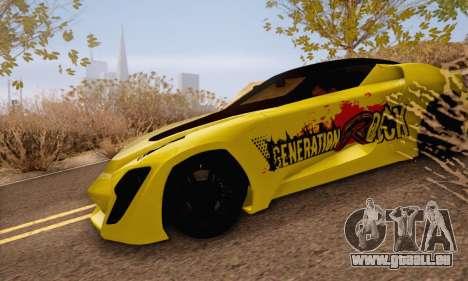 Bertone Mantide 2010 Rock Generation pour GTA San Andreas