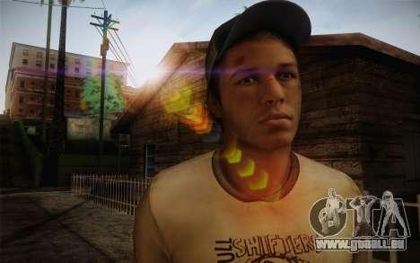 Ellis from Left 4 Dead 2 pour GTA San Andreas troisième écran