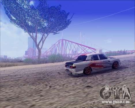 GAZ 31105 Accordables pour GTA San Andreas vue arrière