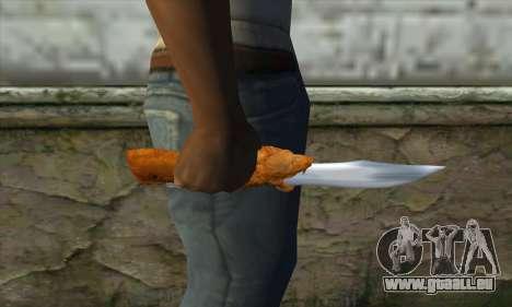Couteau de collection pour GTA San Andreas troisième écran