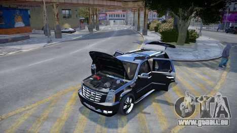 Cadillac Escalade pour GTA 4 Vue arrière