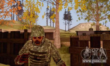 Zombie Soldier für GTA San Andreas fünften Screenshot