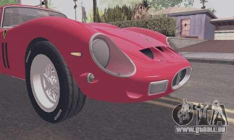 Ferrari 250 GTO 1962 für GTA San Andreas Rückansicht