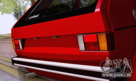 Volkswagen Golf Mk I 1978 pour GTA San Andreas vue intérieure