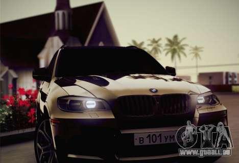 BMW X5M 2013 pour GTA San Andreas vue de dessous