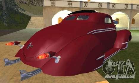 Lincoln Zephyr 1946 pour GTA San Andreas vue intérieure