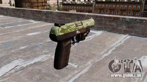 Pistolet FN Cinq à sept LAM Vert Camo pour GTA 4 secondes d'écran