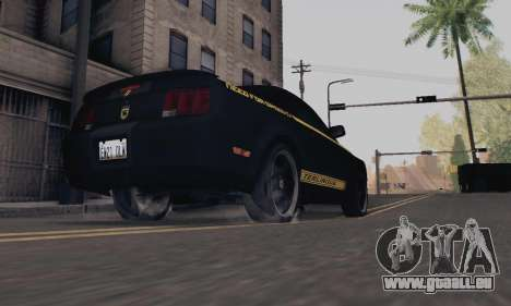 Ford Mustang Shelby Terlingua 2008 NFS Edition pour GTA San Andreas vue arrière