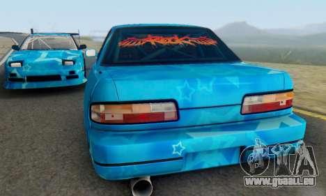 Nissan Silvia S13 Blue Star pour GTA San Andreas vue intérieure