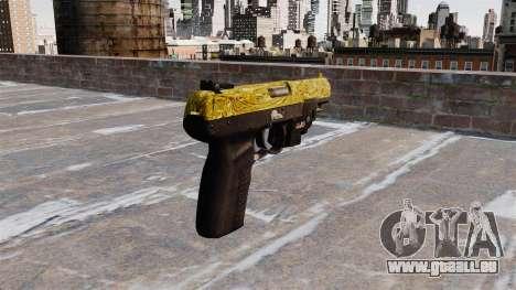 Pistolet FN Cinq sept d'Or LAM pour GTA 4 secondes d'écran