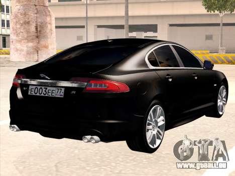 Jaguar XFR pour GTA San Andreas vue de droite
