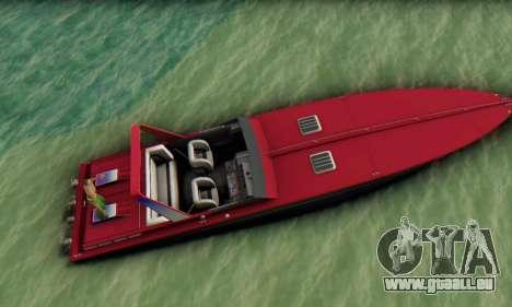 Wellcraft 38 Scarab KV für GTA San Andreas rechten Ansicht