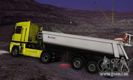 Schmied Bigcargo Solid Stock für GTA San Andreas Rückansicht