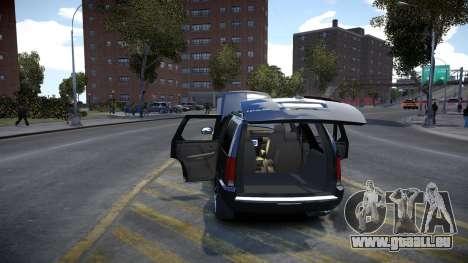 Cadillac Escalade pour GTA 4 est une vue de l'intérieur