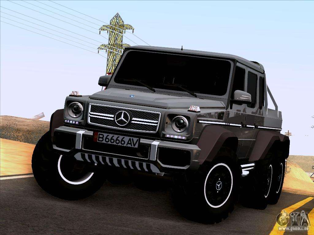 Mercedes benz g65 amg 6x6 pour gta san andreas for Mercedes benz amg 6x6