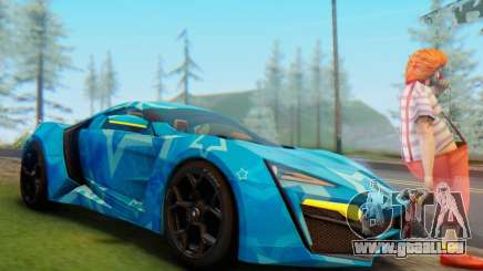 W-Motors Lykan Hypersport 2013 Blue Star für GTA San Andreas