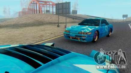Nissan Silvia S13 Blue Star für GTA San Andreas