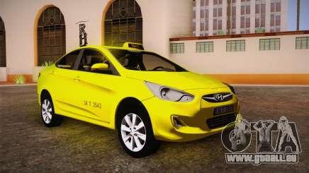 Hyundai Accent Taxi 2013 pour GTA San Andreas