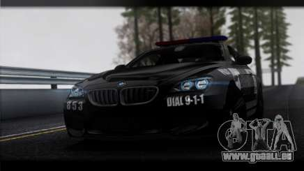 BMW M6 Coupe Redview Police für GTA San Andreas