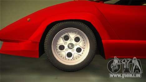 Lamborghini Countach 1988 25th Anniversary für GTA Vice City rechten Ansicht