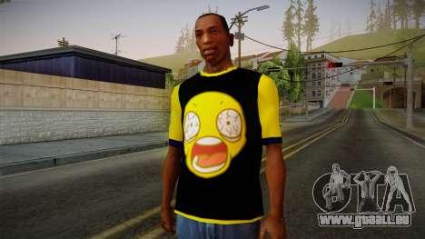 Black & Yellow T-Shirt pour GTA San Andreas