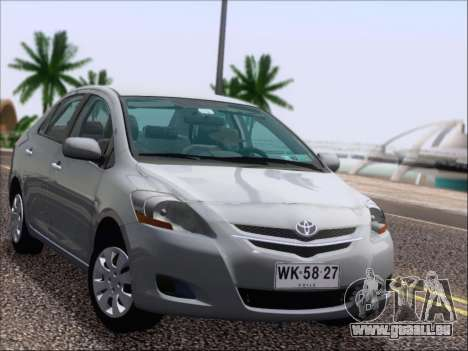 Toyota Yaris 2008 Sedan pour GTA San Andreas