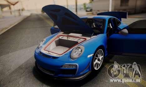 Porsche 911 GT3 RS4.0 2011 pour GTA San Andreas vue de dessus