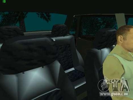 VAZ 21099 pour GTA San Andreas vue de dessus