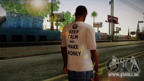 Fler Keep Calm And Make Money Shirt für GTA San Andreas zweiten Screenshot