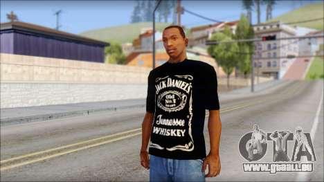 Jack Daniels Fan T-Shirt Black pour GTA San Andreas