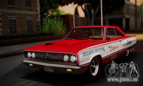 Dodge Coronet 440 Hardtop Coupe (WH23) 1967 pour GTA San Andreas salon