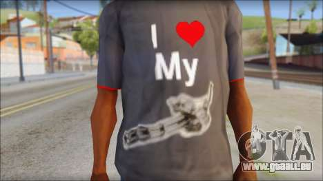 I love my gun T-Shirt für GTA San Andreas dritten Screenshot