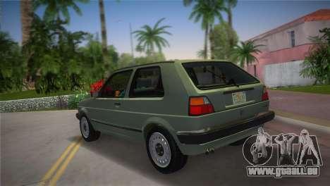 Volkswagen Golf II 1991 pour une vue GTA Vice City de la gauche
