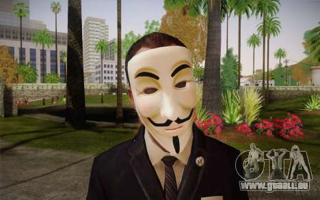 Anonymous Skin für GTA San Andreas dritten Screenshot