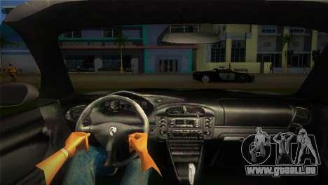 Porsche 911 GT3 Police für GTA Vice City zurück linke Ansicht