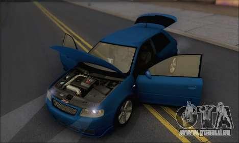 Audi A3 1999 pour GTA San Andreas vue de côté