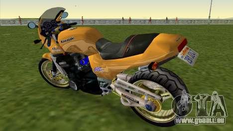 Kawasaki GPZ900R Ninja Tuned pour une vue GTA Vice City de la gauche