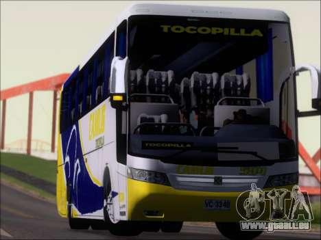 Busscar Vissta Buss LO Mercedes Benz 0-500RS für GTA San Andreas obere Ansicht
