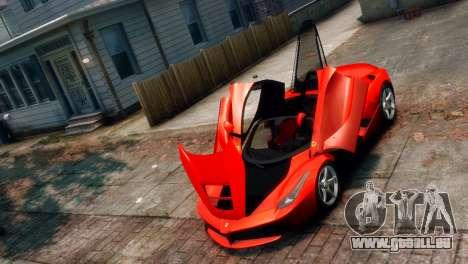 Ferrari LaFerrari pour GTA 4 Vue arrière
