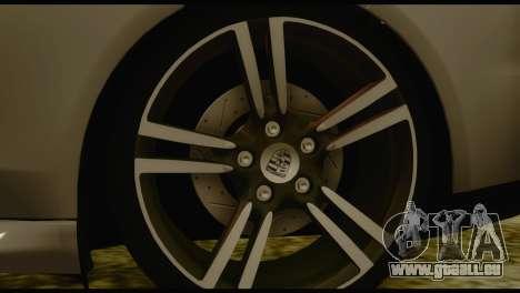 Porsche Panamera GTS pour GTA San Andreas sur la vue arrière gauche