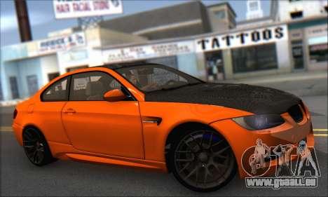 BMW M3 E92 Soft Tuning für GTA San Andreas zurück linke Ansicht
