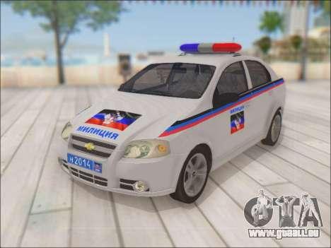 Chevrolet Aveo Police MDN pour GTA San Andreas