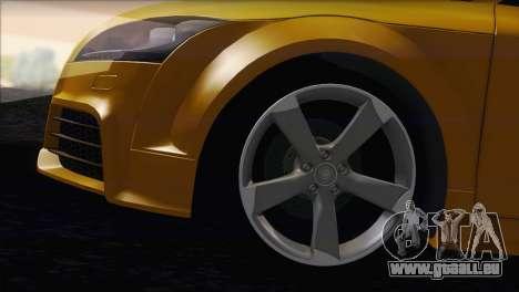 Audi TT RS v2 2011 pour GTA San Andreas sur la vue arrière gauche