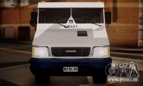Iveco Daily Brinks pour GTA San Andreas vue arrière