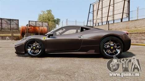 Ferrari 458 Italia Speciale Novitec Rosso für GTA 4 linke Ansicht